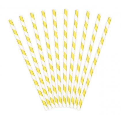 Papierové slamky žlté