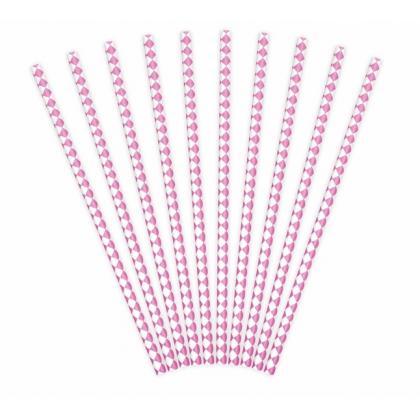 Papierové slamky svetlo ružové