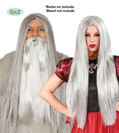 parochńa dlhé strieborné vlasy
