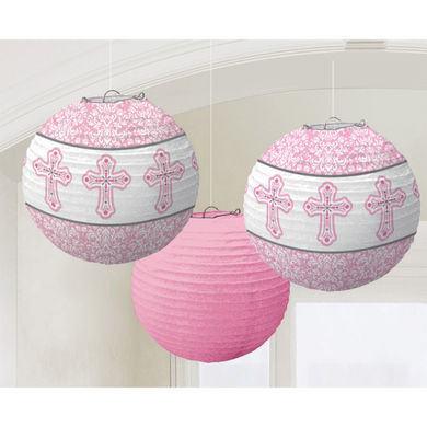 Dekoračné lampióny ružové krížiky