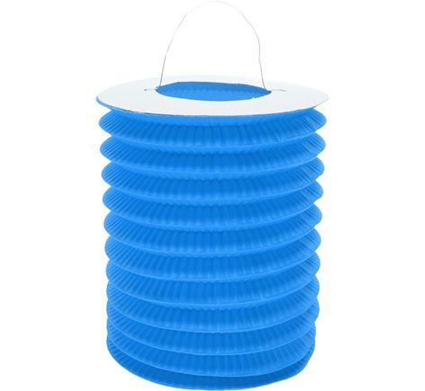 Dekoratívny lampáš modrý
