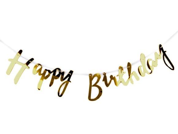 Banner Happy Birthday gold