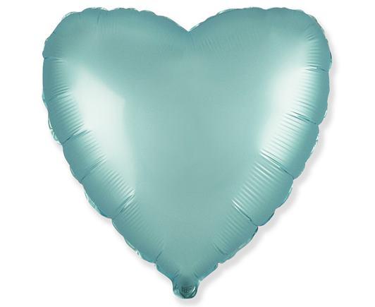 Fóliové srdce saténové modré