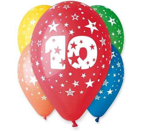 Balóny s č. 10