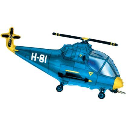 Fóliový balón vrtulník modrý