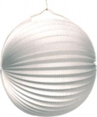 Lampión jednofarebný biely