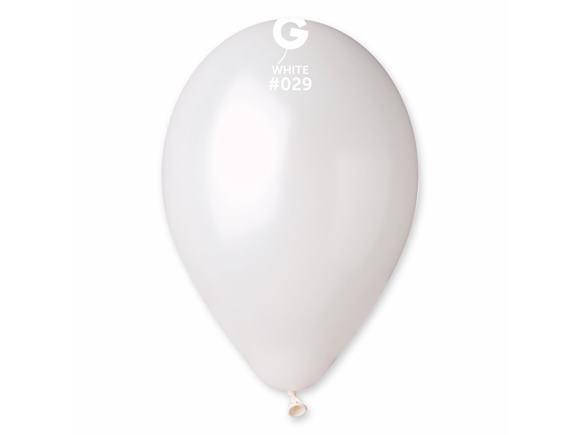 Balón perleťový biely